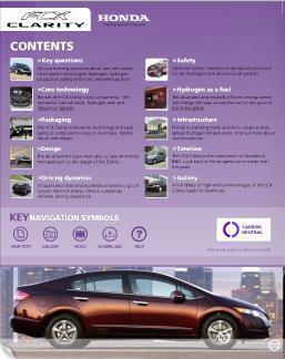 Honda FCX Clarity Publicity Booklet